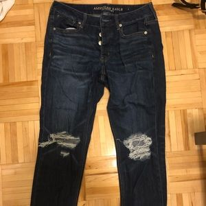 American Eagle Dark Wash Tomgirl Jeans Size 6